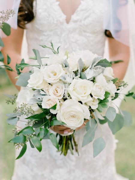 Shades of white floral bouquet