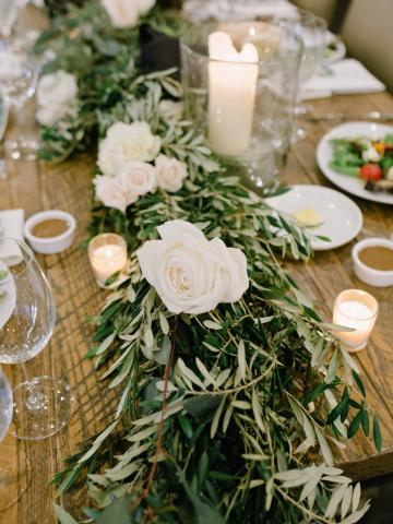 Reception floral garland