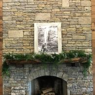 Fireplace at Blue Mountain Vineyard