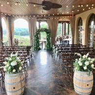 Montaluce Winery Wedding on the Veranda