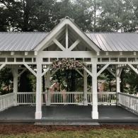 Arbor with center floral design