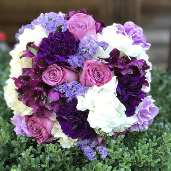 [Image: When a bride loves purple, she gets all shades of purple. Venue: Forrest Hills Resort in Dahlonega ]