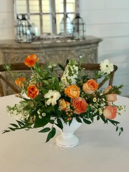 Orange and Peach center piece